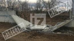 БМП протаранила забор аэропорта вВолгограде ипопала навидео