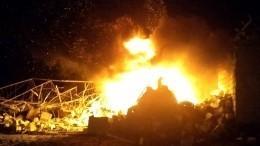 Видео: Газопровод воспламенился после обстрела Степанакерта