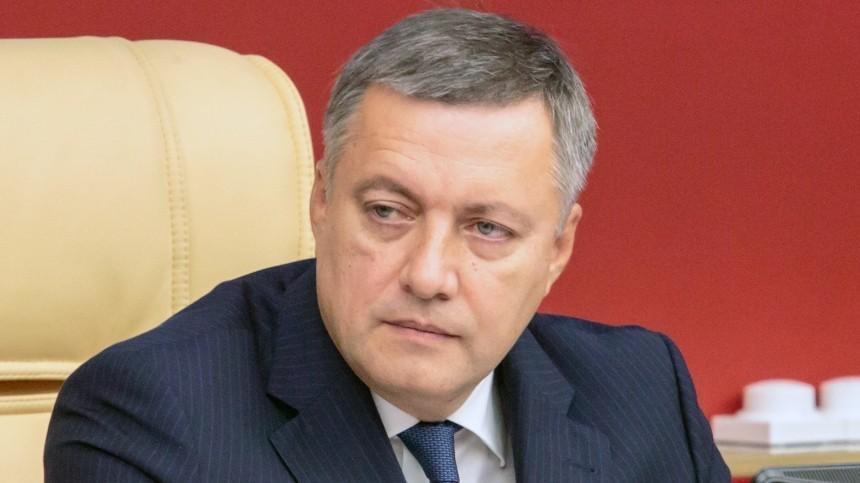 Инфицированный СОVID-19 губернатор Иркутской области госпитализирован