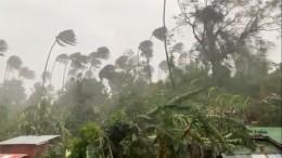 Видео: тайфун «Молаве» промчался поФилиппинам инаправился кберегам Вьетнама