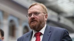«Просто бред»— Милонов оботказе сдать тест наCOVID-19 перед заседанием Госдумы