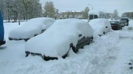 Мощный снегопад обрушился наУрал— видео