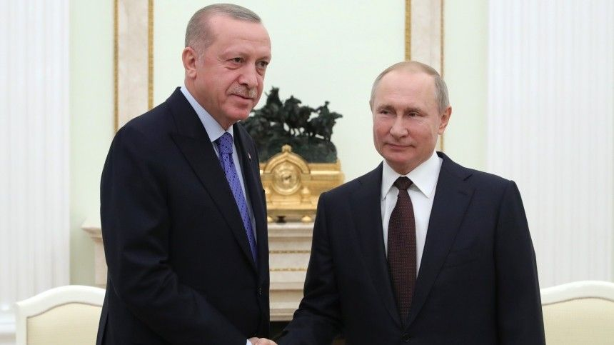 Путин иЭрдоган обсудили ситуацию вНагорном Карабахе