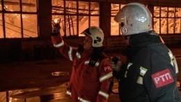 Открытое горение налакокрасочном заводе вЛенобласти ликвидировано