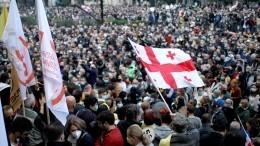 Оппозиция вГрузии заявила оежедневных митингах уздания парламента вТбилиси