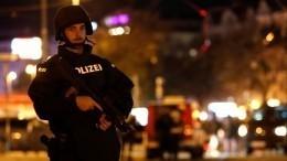 Момент расстрела прохожего террористом попал навидео