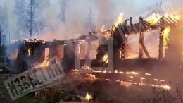 Видео: вТосненском районе сгорел частный хоспис