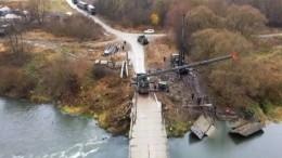Военные возводят переправы вТульской области— видео