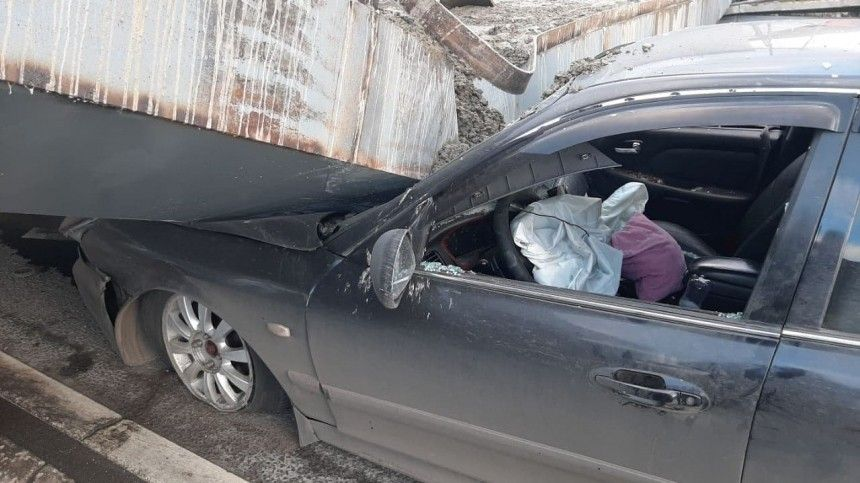 Видео изсалона авто вмомент обрушения намашину бетонной плиты