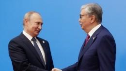 Стали известны основные темы разговора Путина спрезидентом Казахстана