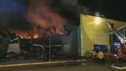 Серьезный пожар вторговом центре Рязани потушен