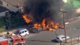 Легкомоторный самолет рухнул нажилой район вЛос-Анджелесе