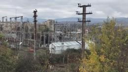 Видео сместа разрушенной электростанции вСтепанакерте