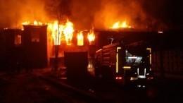 Жилой дом загорелся вподмосковном Красноармейске