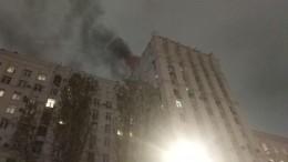Историческое здание постройки начала XX века горит вМоскве