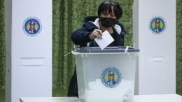 Завершилось голосование навыборах президента Молдавии