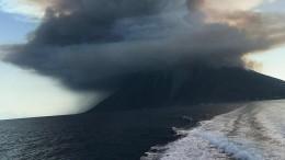 Мощный взрыв истолб пепла: ксеверу отСицилии активизировался вулкан