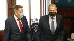 Лавров иглава Красного Креста обсудили сотрудничество вНагорном Карабахе