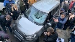 Пенсионер наавто протаранил людей под Калининградом— видео