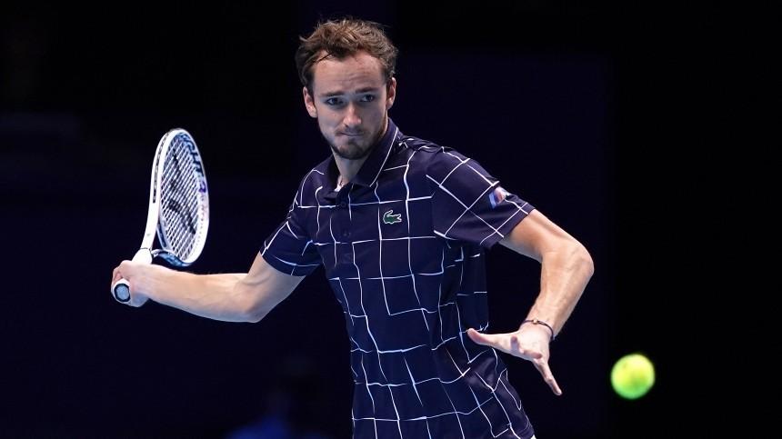 Теннисист Даниил Медведев впервые вышел вфинал итогового турнира АТР вЛондоне