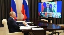 Путин выступил заобъединение стран БРИКС для выпуска вакцин отCOVID-19