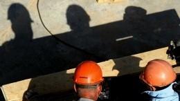Видео сместа обрушения части башенного крана вМоскве