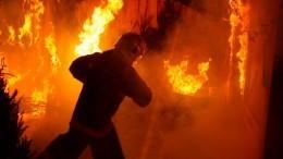 Огонь стремительно распространяется назагоревшемся складе вМоскве
