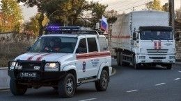Российские миротворцы сопроводили колонну беженцев вСтепанакерт