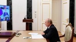 «Наденьте шапки»: Путин сделал замечание чиновникам изСибири