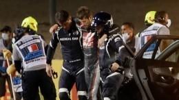 Гонка «Формулы-1» приостановлена из-за аварии сучастием Ромена Грожана
