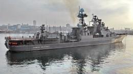 США поймали науловке всравнении эсминца «Джон Маккейн» и«Адмирала Виноградова»
