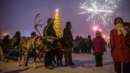 Сфейерверком иЧысхааном: первые новогодние елки официально зажгли вЯкутии