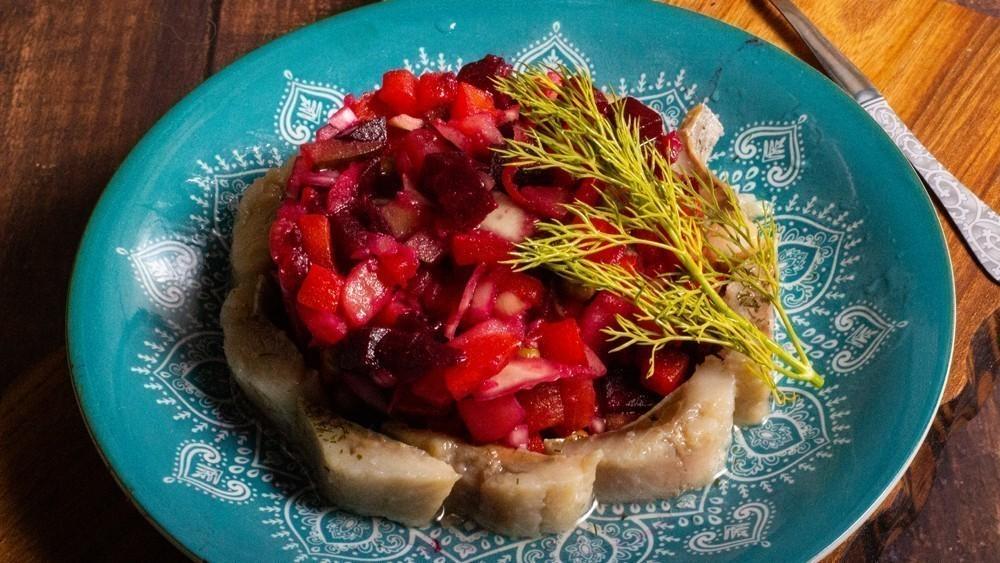 Винегрет ссельдью— Пошаговый рецепт сфото