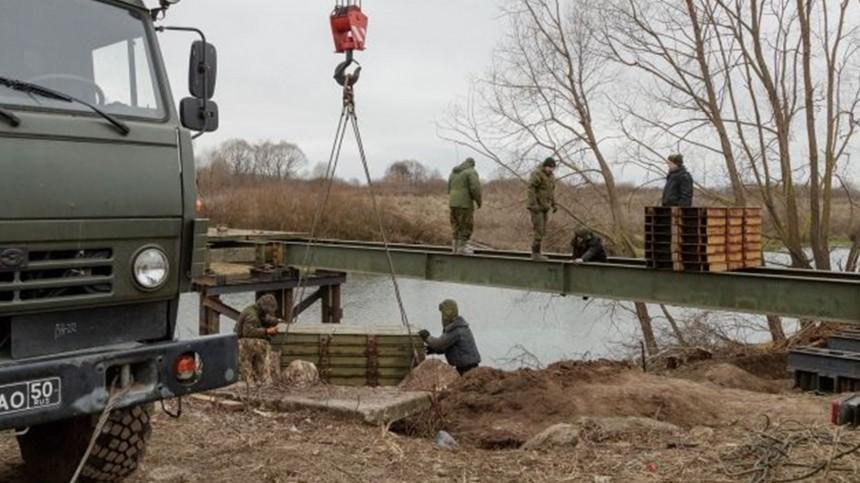 Российские военные врамках учений возвели пять мостов вТульской области