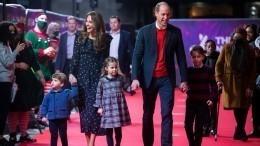 Кейт Миддлтон ипринц Уильям впервые показались напублике стремя детьми