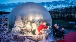 Фото недели: Выставка осамоизоляции, Санта-Клаус застеклом ипарад вБаку