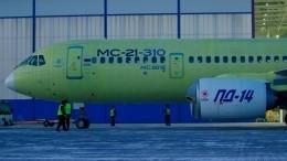 Самолет МС-21-310 сновыми российскими двигателями ПД-14 совершил первый полет