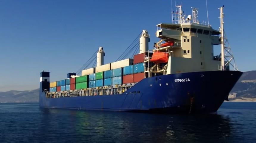 Контейнеровоз «Спарта-3» застрял вольдах Енисейского залива