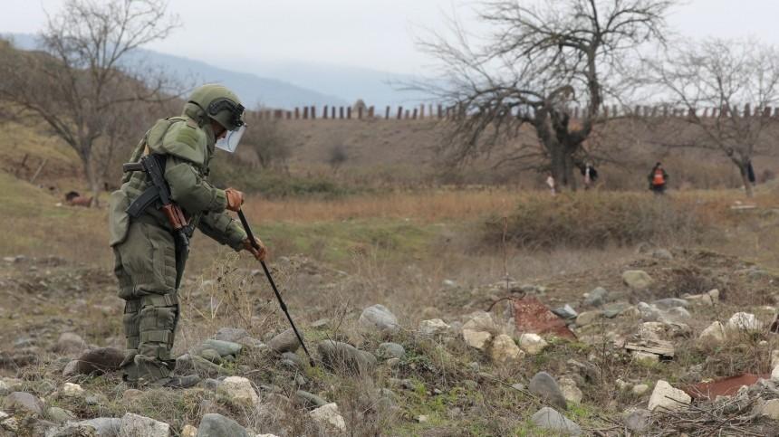Минобороны: Российский офицер-сапер погиб вКарабахе при разминировании дороги