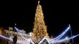 Гирлянда вспыхнула нацеремонии открытия главной елки вКиеве— видео
