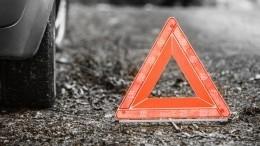 Машина сномерами АМР попала ваварию наСадовом кольце вМоскве