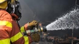 Пожар вспыхнул натерритории бывшего пивзавода наКутузовском проезде вМоскве