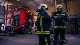 Видео пожара натерритории бывшего пивзавода наКутузовском проезде вМоскве