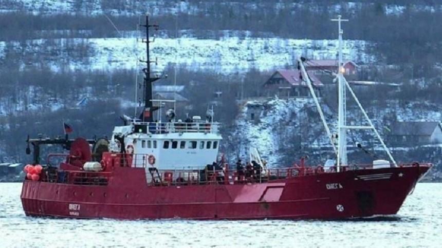 Названа вероятная причина крушения судна «Онега» вБаренцевом море