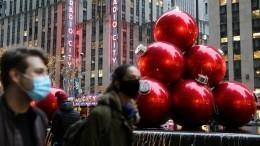 ВНью-Йорке уничтожили гигантскую пиньяту ввиде неприличного жеста— видео
