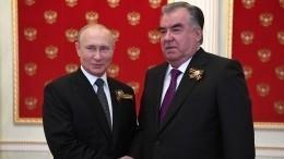 Путин иЭмомали Рахмон обменялись поздравлениями сНовым годом