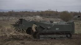Российские миротворцы показали разминирование Степанакерта роботом «Уран-6»