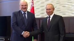 Водной команде: Лукашенко заявил опрочном союзе сПутиным вполитике