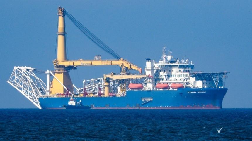 Трубоукладчик «Академик Черский» прибыл взону достройки «Северного потока— 2»