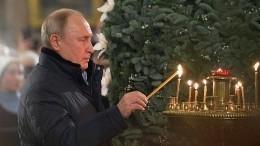 Владимир Путин встречает Рождество вНовгородской области